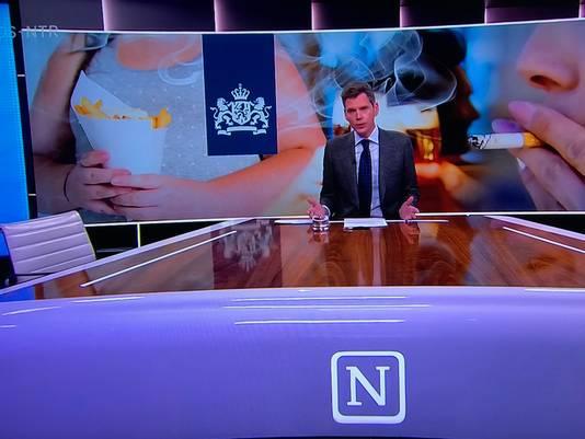 In actualiteitenprogramma Nieuwsuur was het frietje minutenlang in beeld.