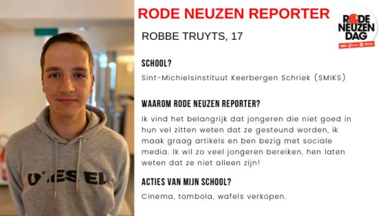 Dit artikel werd gemaakt door Rode Neuzen Reporter Robbe Truyts
