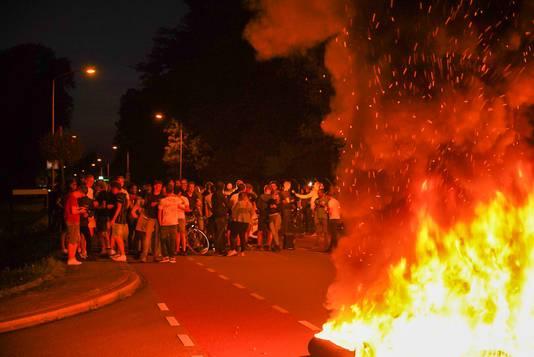 Acties bij de noodopvang in Harskamp.