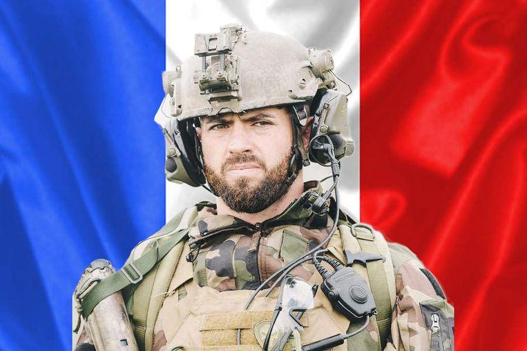 De soldaat, korporaal-chef Maxime Blasco. Beeld AFP