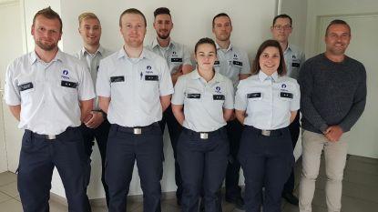 Negen nieuwe agenten voor de politiezone Mira