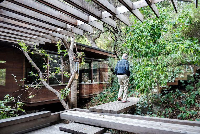 Het huis van Ray Kappe wordt door architecten omschreven als 'treehouse', een huis tussen de bomen. Beeld Sanne De Wilde
