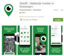 De nieuwe meldR-app van de gemeente Rotterdam.