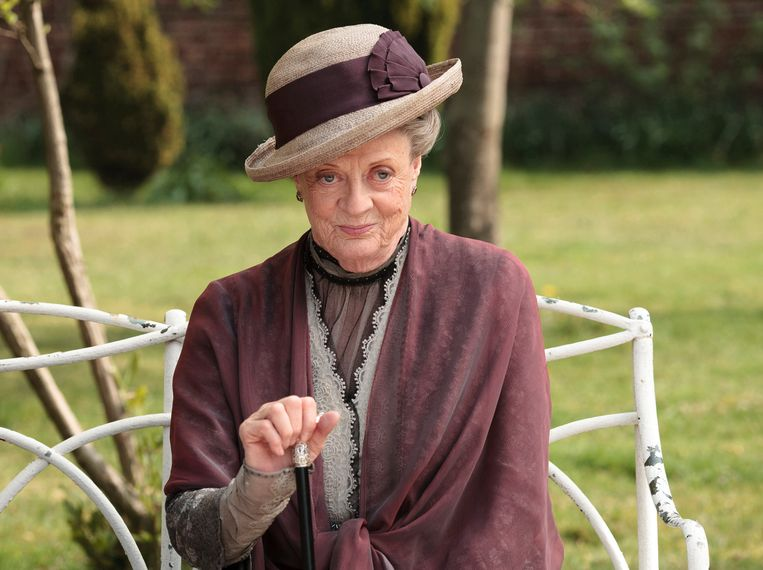 Maggie Smith als the Dowager Countess Grantham in 'Downton Abbey'. Beeld AP