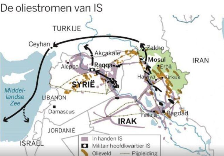 Oliestromen van IS. Beeld De Volkskrant