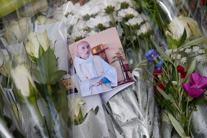 De 85-jarige Franse priester Jacques Hamel die om het leven kwam bij de aanslag.