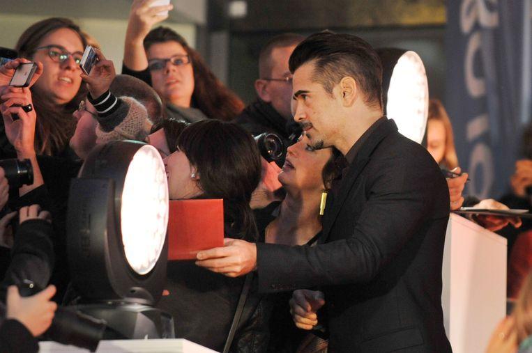 De Ierse acteur Colin Farrell op de rode loper van Film Fest Gent, waar hij zijn nieuwe film 'The Lobster' kwam voorstellen. Beeld PHOTO_NEWS