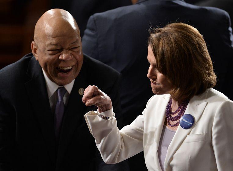 Nancy Pelosi dinsdag in het Congres.  Beeld AFP