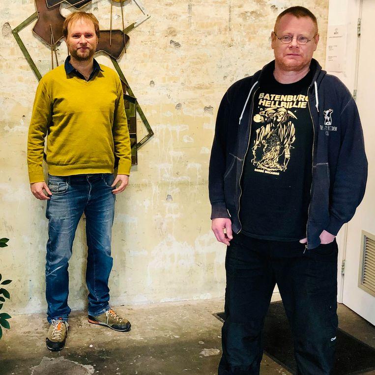 Abel Heijkamp (l) en Frank van Rooij.  Beeld