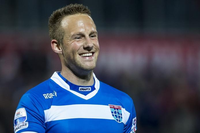 Bart van Hintum in het shirt van PEC Zwolle.