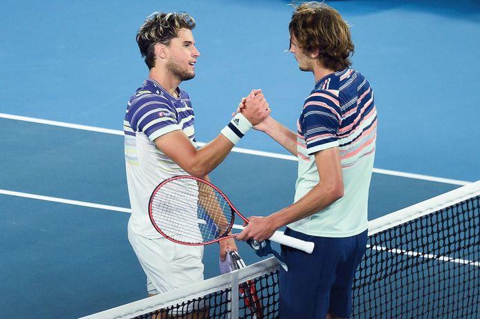 Finalistes de l'US Open, Dominic Thiem et Alexander Zverev s'étaient déjà croisés en début de saison, en demi-finale de l'Open d'Australie.