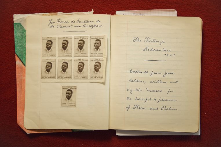 'The Katanga Adventure', het dagboek van de moeder van Van Risseghem. Beeld Tim Coppens