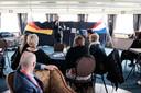 Burgemeester Peter Hinze van Emmerik spreekt de conferentiegangers toe.