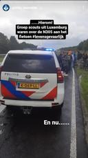 Hierom scheurde de politie Zeewolde snel de N305 op: een groep Luxemburgse scouts fietste op de provinciale weg.
