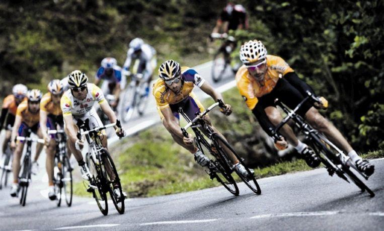 De Tour de France start in 2009, met Lance Armstrong, op 4 juli in Monaco. (FOTO PATRICK POST) Beeld Patrick Post