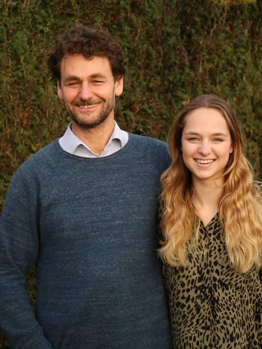 William van Stiphout met zijn dochter Katie