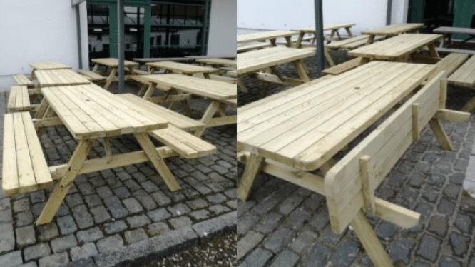 Nieuwe picknicktafels voor educatieve tuin De Helix