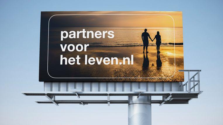 Eén van de drie plannen voor de billboardcampagne van de SGP. Beeld SGP