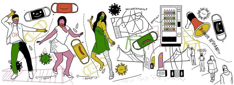 Wat zijn de dilemma's voor de geplande festivals komende zomer? Beeld Ilse kraaij