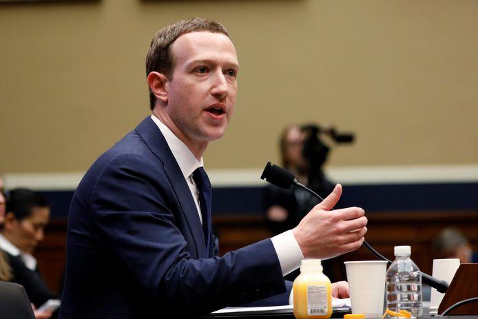 Facebooktopman Mark Zuckerberg.