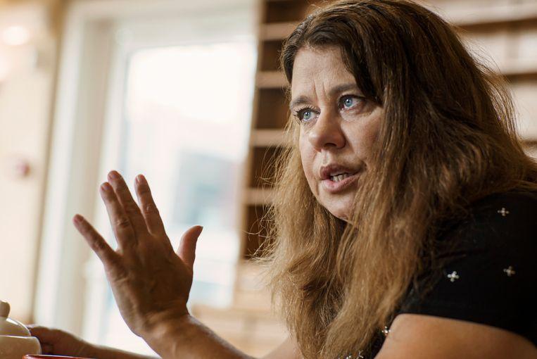 Criminologe Marion Van San, radicaliseringsexpert en auteur van 'Kalifaatontvluchters': 'In het begin van de oorlog konden vrouwen overal in Syrië terecht in de zogeheten 'lingeriehuizen'.' Beeld Eric de Mildt