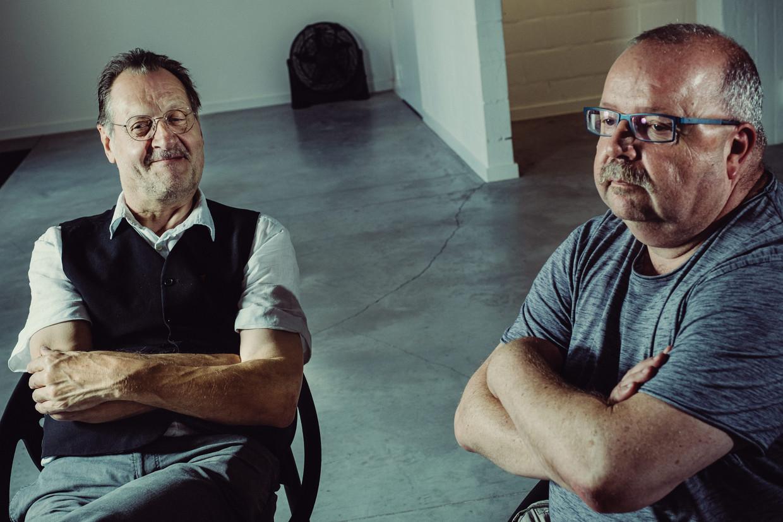 Marc Verschooris en Frank Seberechts.  Beeld Wouter Maeckelberghe