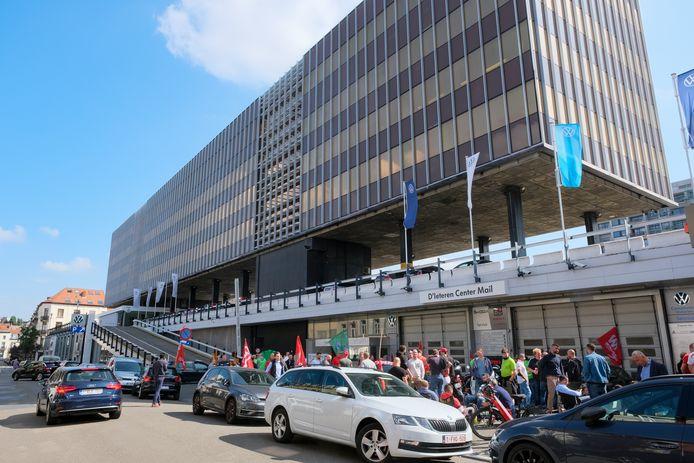 Le siège de D'Ieteren (Center Mail), immeuble massif installé dans le quartier du Châtelain, à Ixelles