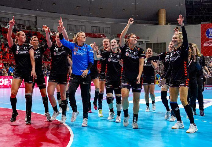 Nederland na de 23 - 36 zege op Servië van afgelopen WK.