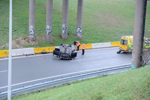 Ongeval op de A12.