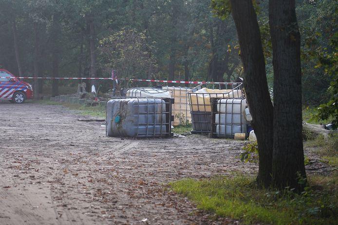 Drugsafval gedumpt in Teteringen.