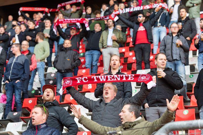 Supporters FC Twente onlangs bij de wedstrijd FC Twente-FC Utrecht.
