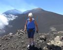 Mariet van Zoggel bezocht deze vakantie drie maal de Etna op Sicilië.