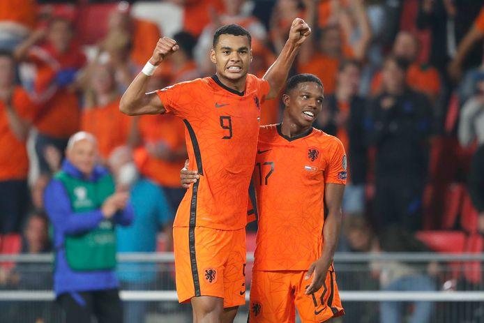 Cody Gakpo scoorde afgelopen weekend voor het eerst voor Oranje.