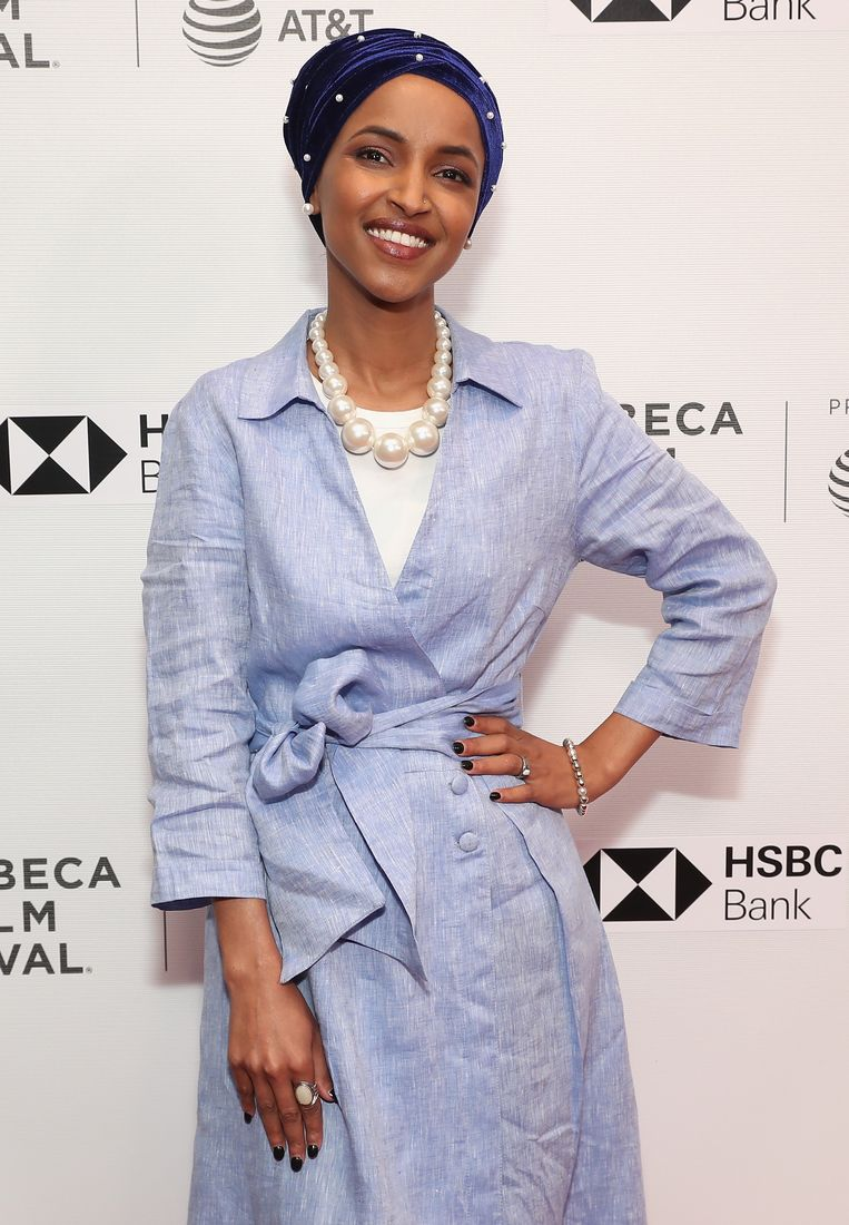 Ilhan Omar  Beeld Getty Images for Tribeca Film Fe
