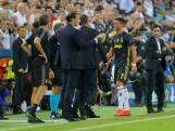 Ronaldo na rood in Valencia huilend van het veld