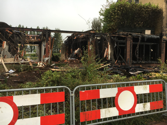 De day-after na de brand in het hotel in Klarenbeek