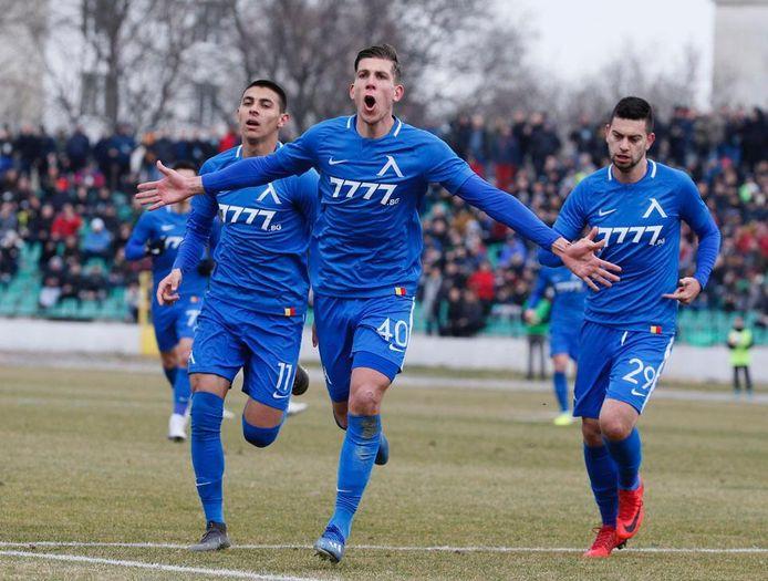 Stijn Spierings scoorde bij zijn debuut voor Levski Sofia.