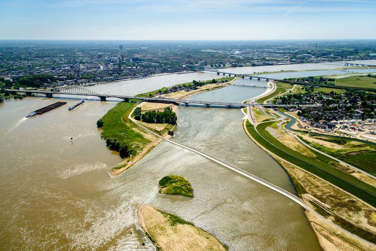 Ook kanoërs kunnen terecht in het Rivierpark in Nijmegen. Beeld Siebe Swart/H+N+S Landschapsarchitecten