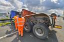 Het ongeluk op de A2 net na knooppunt De Hogt.