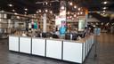De nieuwe welkomsbalie van de Centrale Bibliotheek aan de Binnenrotte.