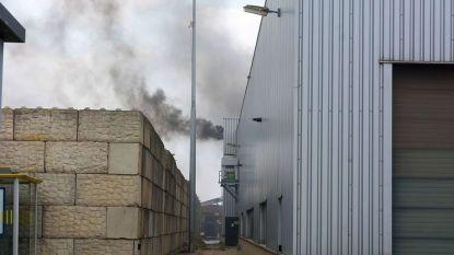 Brand in Overpelt bij recyclagebedrijf