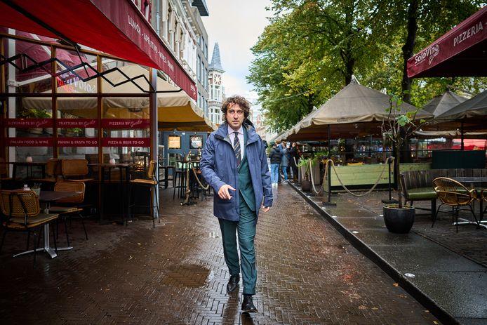 Jesse Klaver (GroenLinks) op het Plein in Den Haag.