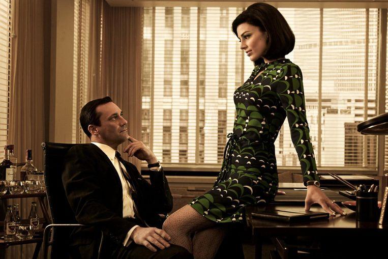 De mode in de populaire tv-serie Mad Men. Beeld