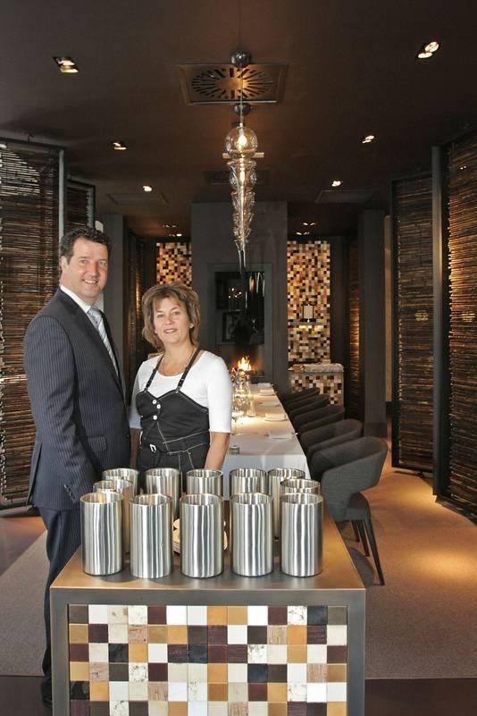 Jelle en Miriam van Gangelen na de opknapbeurt van het restaurant toen het 10 jaar bestond.