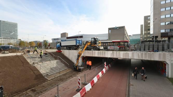 Eindhoven bouwt nieuw 'stationnetje' voor NS-bussen, reizigers moeten straks druk fietspad oversteken