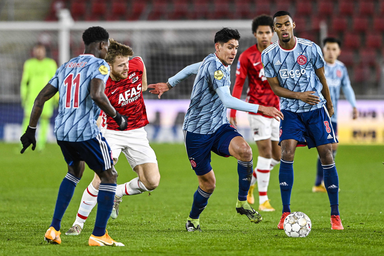 Ajax won met 1-0 van AZ. Beeld EPA
