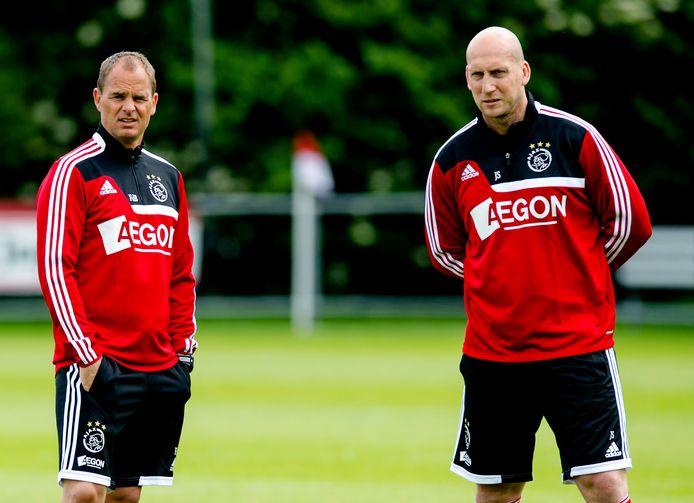 Samen op het trainingsveld bij Ajax in de zomer van 2013.