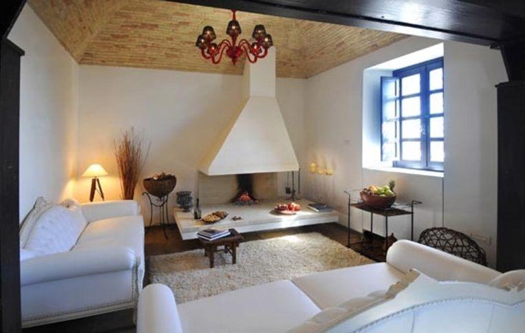 Het smaakvolle interieur van de Faro di Capo Spartivento Beeld UNKNOWN