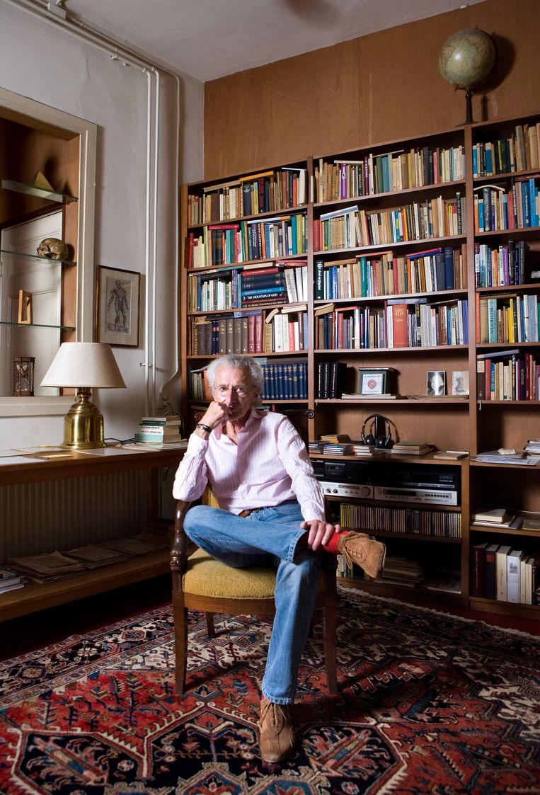 Harry Mulisch, Amsterdam, 25 juli 2007. Beeld HH