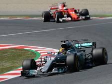 Hamilton wint Grand Prix van Spanje, Verstappen valt uit